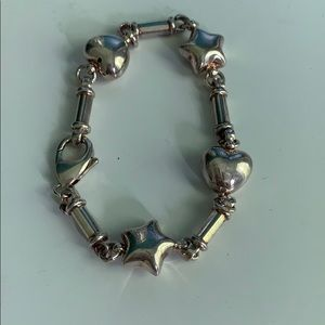 Sterling Silver Hearts and Stars Bracelet